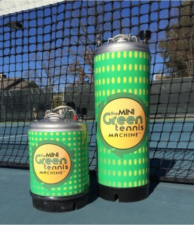 Recycle Tennis Balls with Rebounces Green Tennis Machines